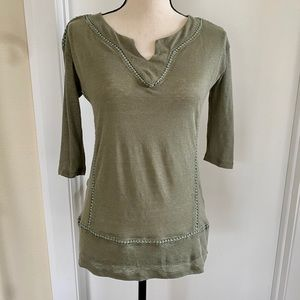 Anthropologie Twig & Perch linen top XS